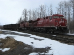 Cp 8820 leads a just recently unloaded coal train