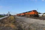 BNSF 7908 heads east with a hot z train.