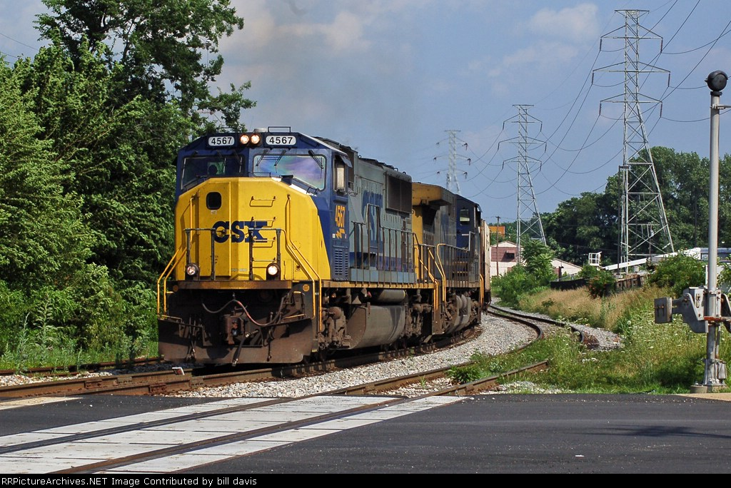 The grain train rounds the curve