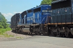 A SD40-2 in Conrial blue