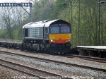 DRS 66417 on hire to Freightliner works 4E24.