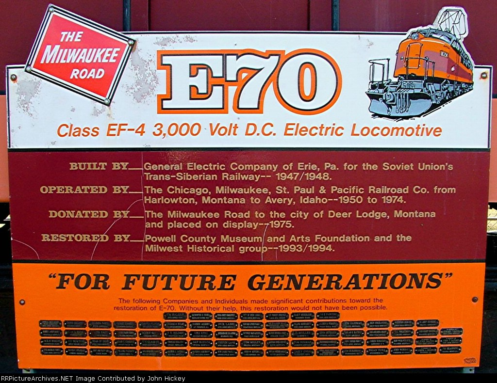 E-70 Information sign at the display
