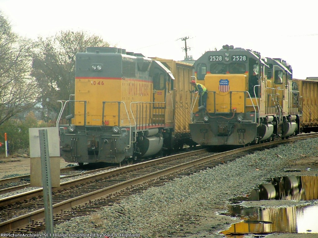 UP 2528 and 1046