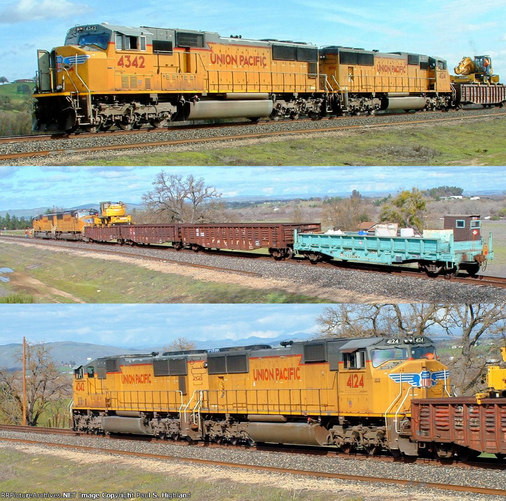UP 4342 and 4124