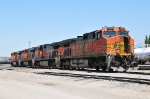 String of four BNSF engines