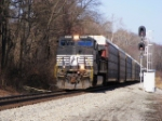 NS 274 eastbound unit loaded autorack train