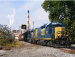 CSX 2307/6407 on H776 backing into the Glatfelter paper mill