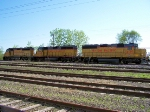 Trio of UP GP40-2s