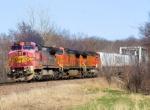 BNSF 875 Still in ATSF Warbonnet