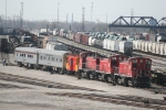 TRRA 1515, 1509, 1507 switching a couple of passenger cars and a caboose.