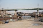 CSX yard job crossing Cuyahoga River