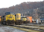 Angled Profile of CSX Units, Loyall Yard