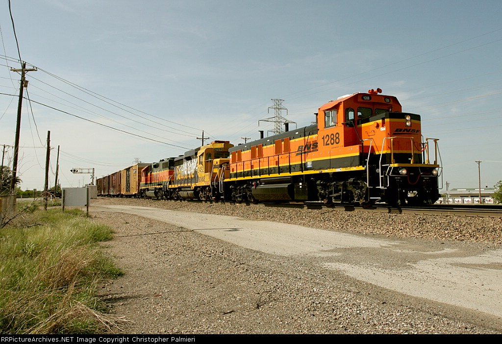 BNSF 1288, 2452, and 2297