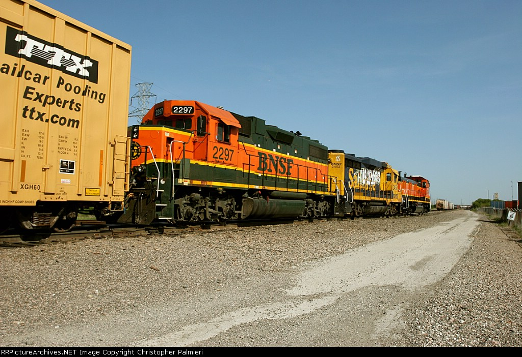 BNSF 2297, 2452, and 1288