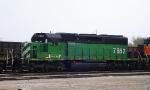 BNSF 7852 Laid-Up