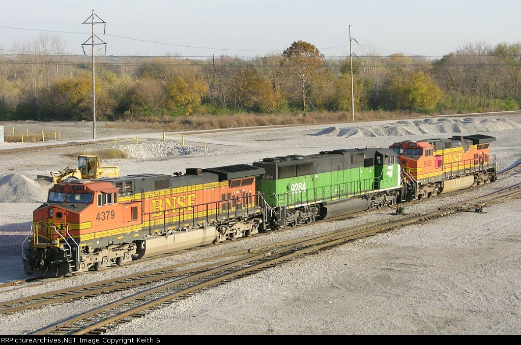 BNSF 4379  9284 and 5408