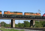 BNSF 6128 and 6136