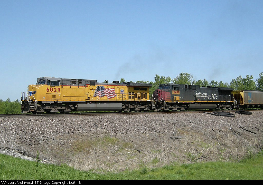 UP 6029 and 6407