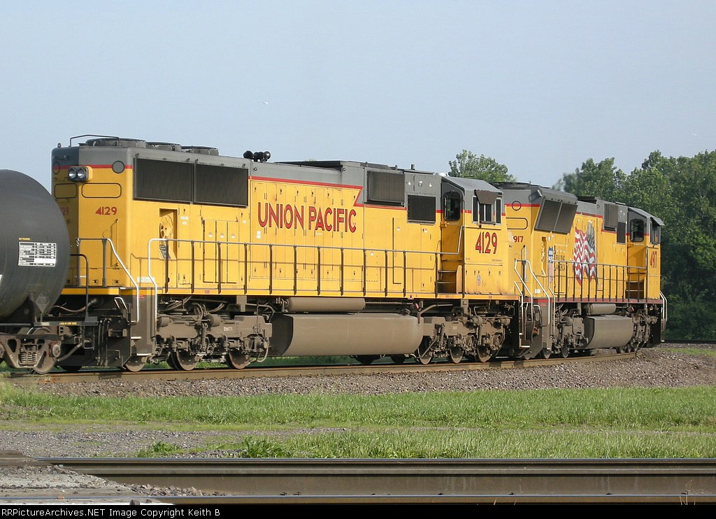 UP 4129 and 4917