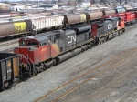 Cn coal train pulls through CP's westfort yard