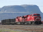 CP 8791 leads a loaded coal train for TBTL Thunder Bay