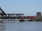 Loaded Cp Coal Train headed over to the Island to be unloaded at TBTL.