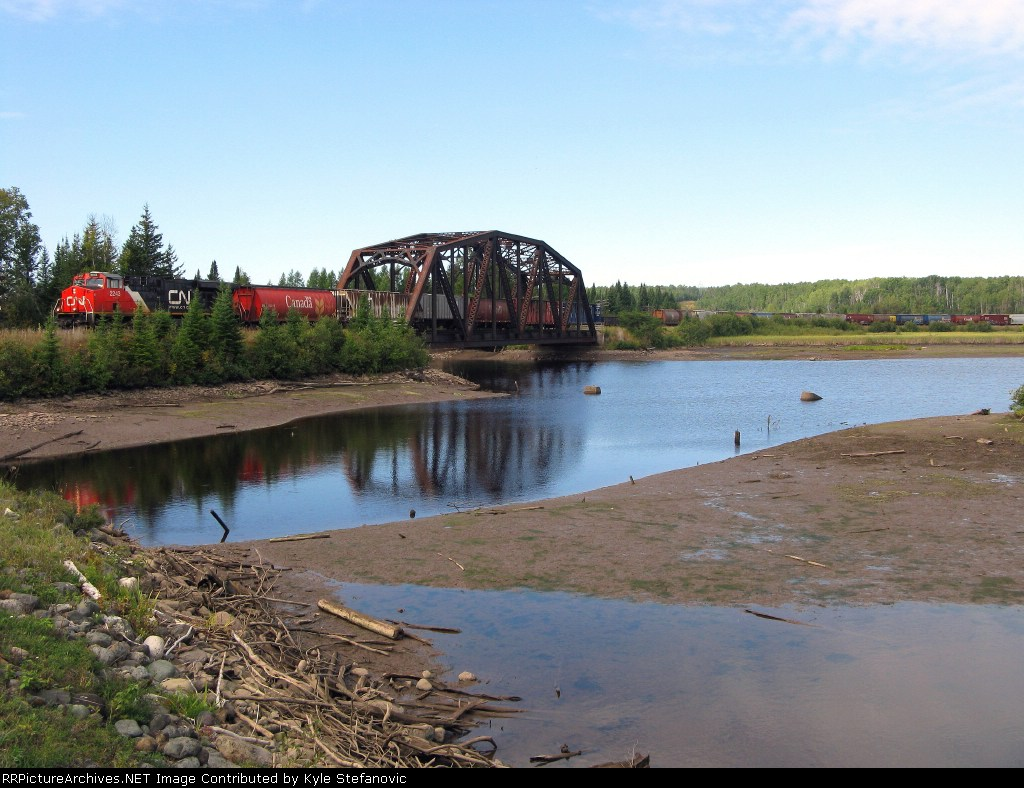 CN 2243 leads CN 436 through Kakabeka Falls