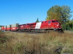 CP 8868 leads an eastbound intermodel through Mackenzie