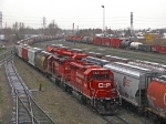 Can you say EMD??? 7 sd 40-2s  and one Geep 9 can all be seen in this shot.