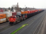 CN coal empties making its way through CP's westfort yard