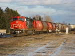 CN 2205 leads CN 841 out of Thunder Bay