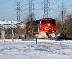 CN 436 plows through the snow on its journey across town