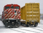CP 9009 is seen here in yard service couppled to CP 6613