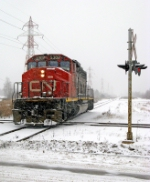 CN 5302 is being used in yard service here in Thunder Bay