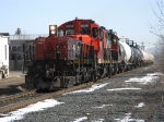 Cn tripple set pull a transfer through town