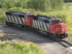 "Two CN ""draper tapers"" sit up at Thunder Bay north"