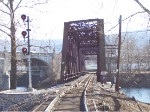 Looking East at CP Bethlehem through rail bridge.