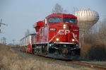 CP 8802 leaving town with a Railmate test train