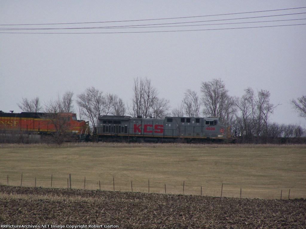 KCS 4608 East-bound on the Ravenna Sub