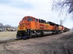 After a 25 Minute Delay, BNSF 9144 Gets to Resume its Trip