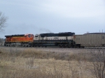 Two DPU's Bring up the Rear of a South-bound Coal Train
