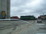 BNSF 6321 & CEFX 6008 (ex-SOO) Help with a Freight Train