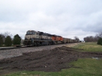 BNSF 9680 With a New Swoosh is one of 2 DPU's on this Coal Train