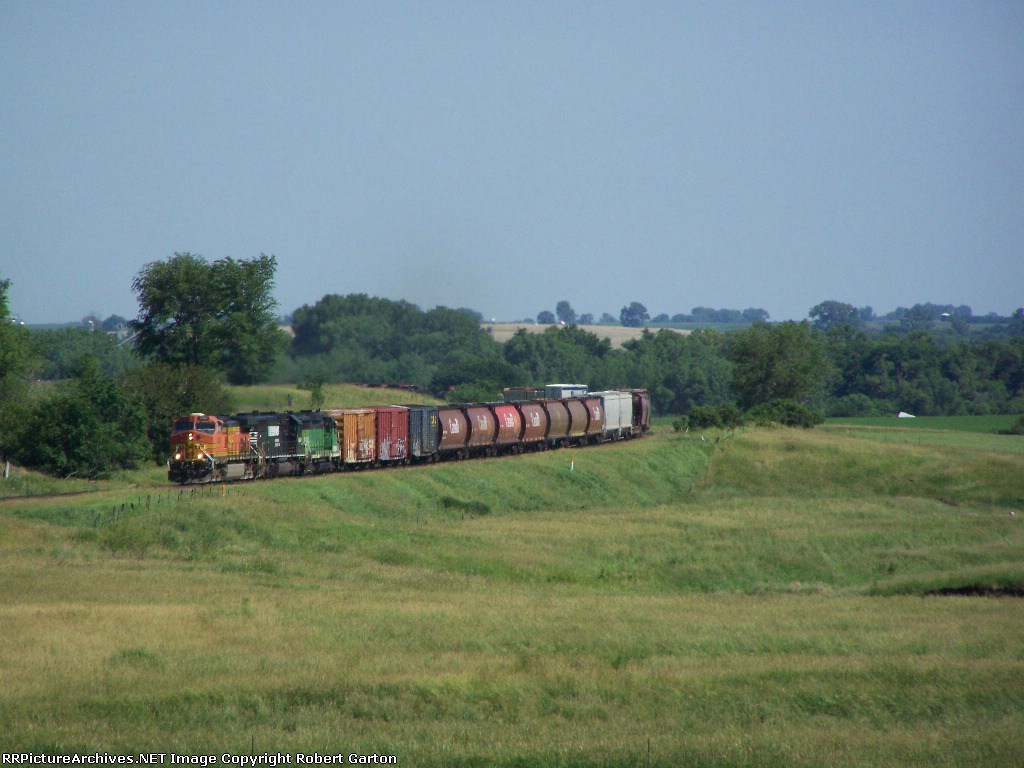 Freight Wraps Through the Trees and Pastures