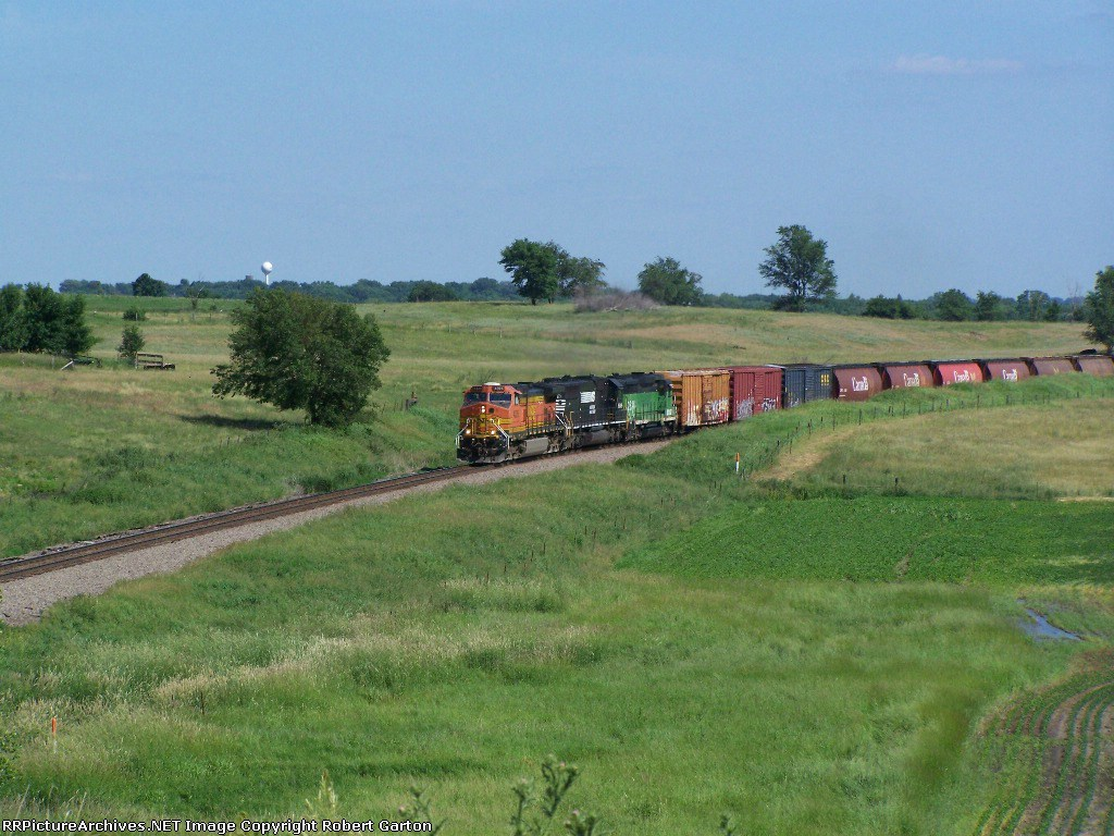 Among the Freight: A Host of Canada Grain Hoppers Due for Interchange in Minnesota