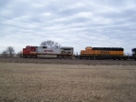 BNSF 4708 Heads North With Mixed Freight
