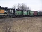 NS 3034, BNSF 2913 & BNSF 1531
