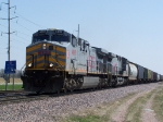 KCS 4597 Leads Freight North to Sioux City on the UP's Branch From California Junction