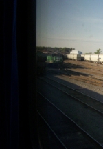 BNSF 2873 Hides in the Shadows As I Snap it From our Coach Window
