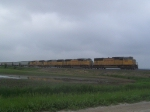 UP 4156 Leads Grain South